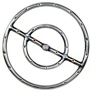 12 Inch Stainless Round Double Natural Gas Fire Pit Ring Burner photo