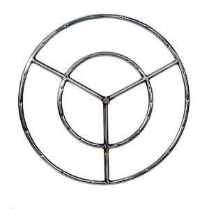 22 Inch Stainless Round Double Natural Gas Fire Pit Ring Burner photo