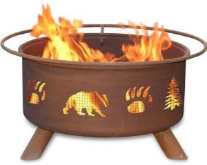 30 Inch Bear & Trees Fire Pit photo