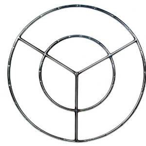 30 Inch Stainless Round Double Natural Gas Fire Pit Ring Burner photo