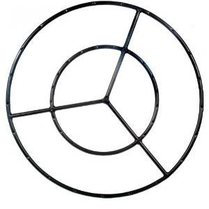 36 Inch Round Double Natural Gas Fire Pit Ring photo
