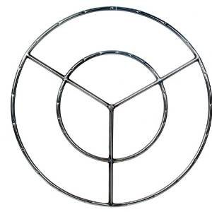 36 Inch Stainless Round Double Natural Gas Fire Pit Ring Burner photo