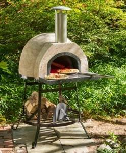38″ Plain Front Fully Assembled Outdoor Wood-Fired Stone Oven photo