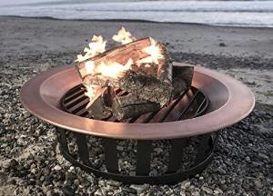 40″ Solid 100% Copper Fire Pit Bowl Wood Burning Patio Frontgate Deck Grill photo