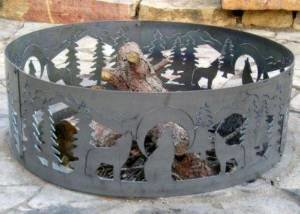 48 Inch Fire Ring – Wolves Steel Fire Pit photo