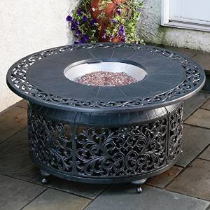 Alfresco Home Bellagio Cast Aluminum Gas Fire Pit photo