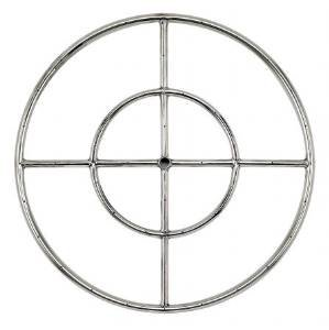 American Fireglass Stainless Steel Fire Pit Burner Ring, 24-Inch photo