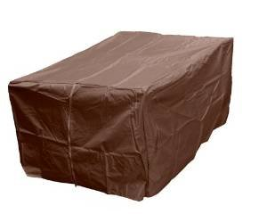 AZ Patio Heaters Fire Pit Cover in Mocha, Rectangle photo
