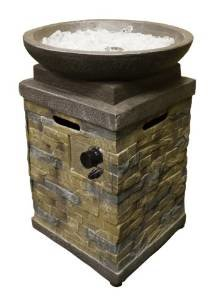 AZ Patio Round Faux Stone Fire Pit photo