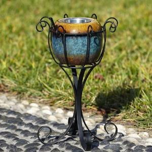 Black Metal Scroll Fireside Firepot Stand photo