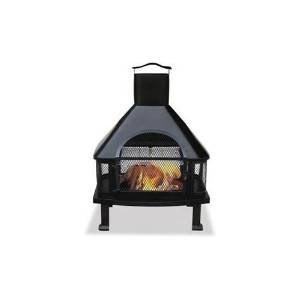 Blue Rhino WAF1013C Uniflame Black Firehouse with Chimney, 25″W x 45.3″H x 20.5″D (Black) (Blue RhinoWAF1013C )