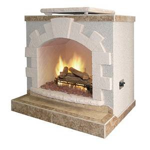 Cal Flame Two Tone Outdoor Fireplace – FRP906-1-HN photo