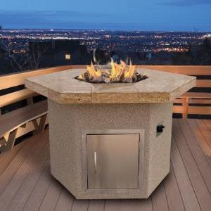 CalFlame Dining Height Hexagon Gas Fire Pit photo