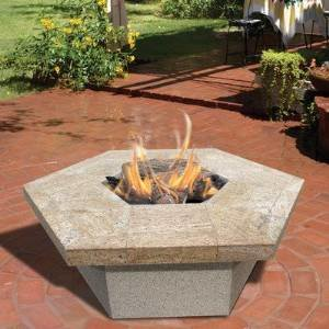 CalFlame Hexagon Gas Fire Pit photo