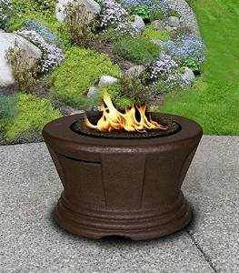 California Outdoor Concepts 7010-CB-PG2-N-A San Simeon Chat Height Fire Pit-Brown-Black Glass-Without Granite photo