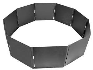 Campfire Fire Pit Ring 10 Panels Stackable 40″ Diameter Heavy Duty Steel