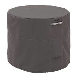 Classic Accessories 55-176-015101-EC Ravenna Air Conditioner Cover, Round, Taupe photo