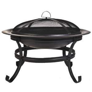 CobraCo Scroll Leg Steel Fire Pit with with Screen and Cover FB1001 photo