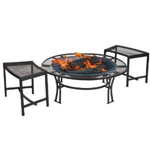 CobraCo Steel Mesh Rim Fire Pit and Two Bench Set  with Screen and Cover FB6400-750 photo