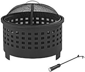 Crosley Hudson Basket Weave Firepit, Black photo