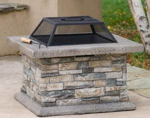 Daniels Outdoor Fire Pit – These Natural Stone Fire Pits Are Great for the Back Yard and Patio. This Fire Place… photo