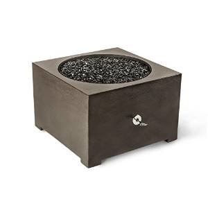 Dreffco 24″ Graphite Round Fire Pit with CSA Approved 65,000 BTU NG or LP Stainless Steel Burner and Bronze Reflective… photo