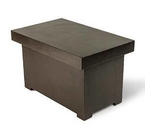 Dreffco 2-Tank LP Tank Bench. Matches Our Graphite Colored Custom Fire Pits photo