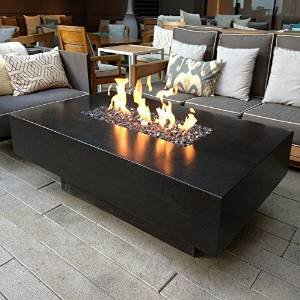 ... Dreffco 30u2033 X 60u2033 Custom Outdoor Rectangular Fire Pit Table With CSA  Approved 50,000 Dreffco 150,000 BTU LP ...