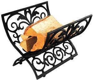 Esschert Design Cast Iron Log Rack, Black photo