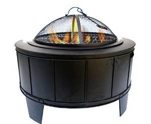 Essential Décor Entrada Collection Metal Fire Pit, 20.87 by 27.56 by 27.56-Inch photo