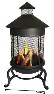 Essential Décor Entrada Collection Metal Fire Pit, 41.34 by 24.61 by 24.61-Inch photo