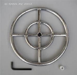 Fire Pit Ring, 12″ Diameter Stainless Steel Burner Ring with Allen Wrench photo