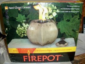 Glazed Ceramic Fire Pot photo