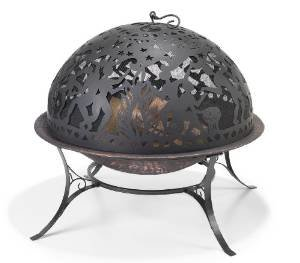 Good Directions FD-2 Full Moon Party 30-Inch Copper-Finished Steel Fire Dome with Built-In Spark Screen photo