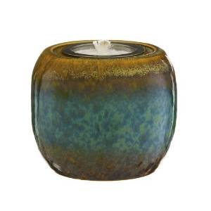 Hazy Glaze Blue and Brown Ceramic Firepot photo