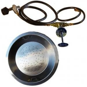 HearthDistribution FPK-2403-NG Round Pan Firepit Burner Kit, Natural Gas photo