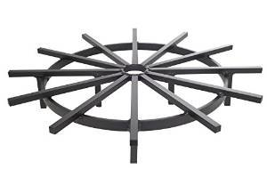 Heavy Duty Ship's Wheel Firewood Grate for Fire Pit – 28 Inch Diameter photo