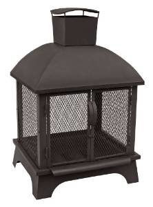 Landmann USA 25722 Redford Outdoor Fireplace, Black photo
