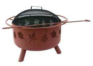 Landmann USA 28673 Big Sky Firepit and Grill, Tree Leaves photo