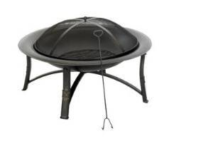 "Living Accents Round Fire Pit 35 "" Dia. Gold photo"