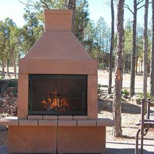 Mirage Stone Wood Burning Outdoor Fireplace with photo
