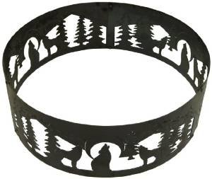 P&D Metal Works Wolves Fire Pit Ring photo
