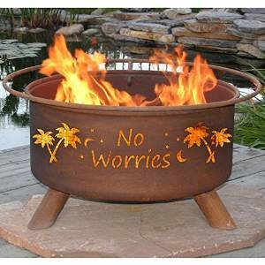 "Patina ""No Worries"" 31 Inch Fire Pit with Grill and FREE Cover photo"