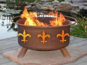 Patina Products F124 Fleur de Lis Fire Pit photo