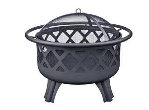 Patio Fire Pit Wood Outdoor Heating Natural Crossfire Steel Cooking Screen Cover bowl photo