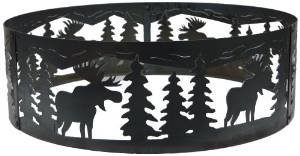 P&D Metal Works Moose Fire Pit Ring photo