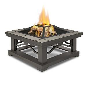 Real Flame 914-GRT Crestone Wood Burning Fire Pit, Gray photo