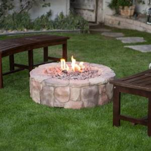 Red Ember 36 in. Clarksville Propane Campfire Fire Pit photo