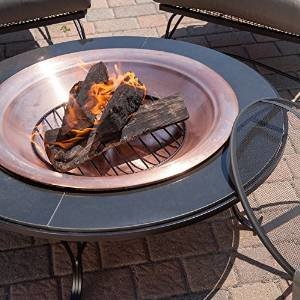 Red Ember Granite Fire Pit Table with FREE Cover photo