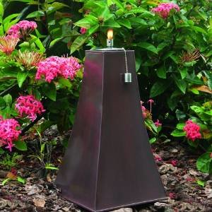 Smart Garden Calatrava Zinc Garden Torch with Light Copper Finish, 17-Inch 27042-17LC photo